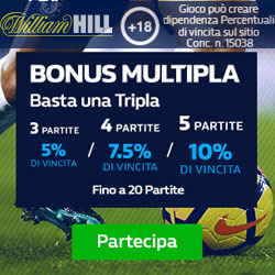 Bonus Multipla William Hill